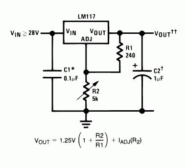 Voltage Regulators LM7812 and LM317